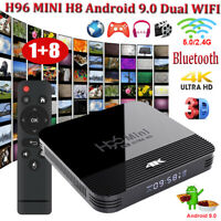 H96 MINI H8 Android 9.0 Pie Dual WIFI BT Smart TV BOX Quad Core USB 4K RK3228A