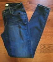 Ann Taylor Loft Curvy Skinny Jeans Women's Sz 4 Dark Wash Stretch Ankle Crop
