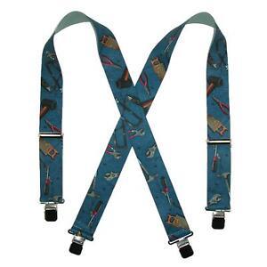 New CTM Men's Big and Tall Elastic Hand Tools Clip End Work Suspenders