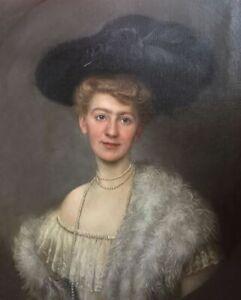 Clara Berkowski (1857-?) Portrait einer jungen Frau, signiert, Königsberg,Berlin