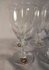 NEW  Sweden's ORREFORS CORONATION PATTERN  SHERRY / CORDIAL CRYSTAL WINE GLASS