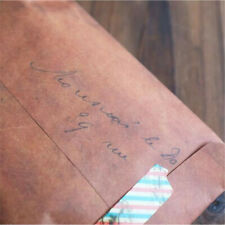 10 Pcs Vintage Brown Paper Envelope Wax Seal Envelope Package Postcard A6A4