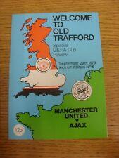 29/09/1976 Manchester United V Copa UEFA Ajax [] (Token eliminado, plegado). gracias F
