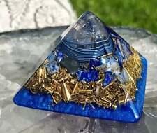 Orgonite® Orgone Pyramid (Mini 2 x 1.8 inches) - Quartz/Lapis Lazuli
