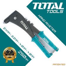 Total Tools - RIVET GUN POP Hand Riveter  2.4, 3.2, 4.0, 4.8mm Rivet Tool Kit