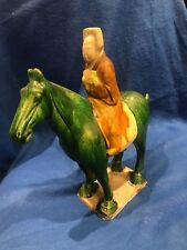 Tang Dynasty C.7th Century Handmade Equestrian Clay Sculpture -  $600K Value *