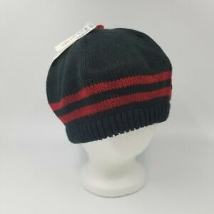 J.G. Hook Womens Hat One SZ Black Red Trim Knit Accessories by Hansen New