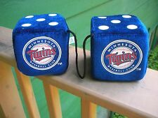 Minnesota Twins Baseball Rear View Mirror Hanging Dice- Foam Stuffing
