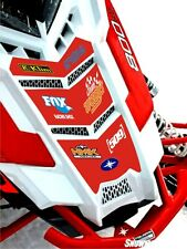 POLARIS HOOD decal GRAPHIC WRAP SWITCHBACK RUSH 800 600 PRO S X AXYS 120 137 red
