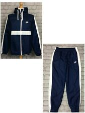 NIKE MENS NAVY BLUE HOXTON WOVEN HOODED POLY FULL ZIP TRACK TOP RRP £70 PANTS