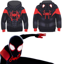 Miles Morales Kid's Hoodie Spider-Man Costume Pullover Jacket Printed Sweatshirt