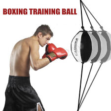 Double End Leather Speed Ball Training Punching Speed Bag Boxing MMA Punch Bag