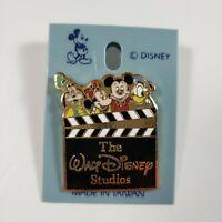 Walt Disney Studios Clapboard Mickey Minnie Goofy Donald Vintage Lapel Pin TW