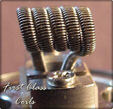 15 - Alien Clapton 0.3 x 0.8 / 32ga .4ohm coils for RDA RBA RTA First Class Coil