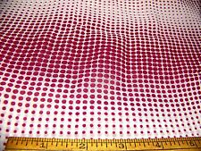"""Vintage Silky Blended """"Versailles"""" Optical Dotted Burgundy White 35"""" W x 36"""" L ."""