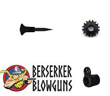 25 - .40 cal Blowgun Spike Darts with 8 Pt Quiver & Tactical Peep Sight from Ber