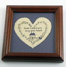 Scherenschnitte Scissors Cutting Folk Art Heart Home ~ Signed Regina Walters