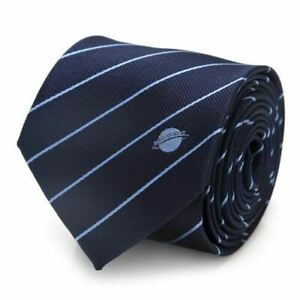 Superman Daily Planet Navy Stripe Mens Tie, licensed by DC Comics.