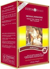 Henna Powder Burgundy by Surya Brasil, 1.7 oz 3 pack