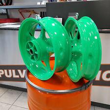 2 Motorradfelgen Neon Lack Motorrad Felgen pulverbeschichten Pulverbeschichtung