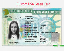 Custom Gift Card USA Green Card Entertainment Props American ID Card