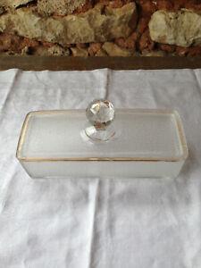 Ancienne BOITE en CRISTAL SAINT LOUIS XIXème Serice de toilette