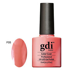 GDI Nails UK Best Classic Soak off Salon Quality Shellac UV LED GEL Nail Polish F05 - Wild Watermelon