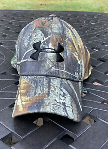 Under Armour Realtree Camo Cap Large/XL Hat Black Logo Heatgear