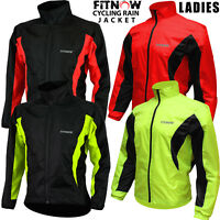 Womens Cycling Jacket High Visibility Waterproof Running Top Rain Coat S to XL