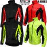 Womens Cycling Jacket High Visibility Waterproof Running Top Rain Coat S to XL
