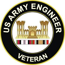 """Army Engineer Corps Afghanistan and Iraq Veteran 5.5"""" Decal / Sticker"""
