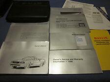 1996 MERCEDES SL 320 500 600 SL320 SL500 SL600  OWNERS MANUAL SET W/ CASE