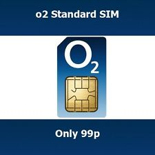 New O2 UK Trio STD Micro Nano SIM Card Get Free Calls & Texts When You Top Up
