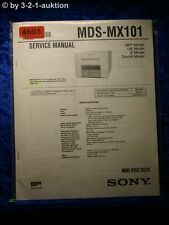 Sony Service Manual MDS MX101 Mini Disc Deck (#4603)
