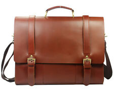 Men's Tote Full Grain Real Leather Shoulder Bag Messenger Bag Laptop Briefcase