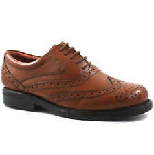 Scimitar 'occum' Mens Leather Wing Cap Oxford Brogues Gents Formal Dress Shoes Brown M963b UK 13