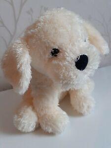 "Tesco Puppy Dog Soft Hug Toy Comforter Cream Fluffy Approx 8"""