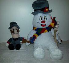 Lot BABW Build A Bear stuffed plush Frosty the snowman Professor Hinkle light up