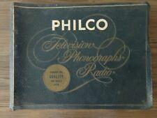 1956 Philco Television Dealer Sales Book Numerous Tv & Phonograph Models-Rare!