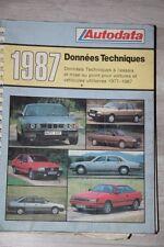 LIVRE TECHNIQUE AUTODATA Données Techniques de 1977 à 1987