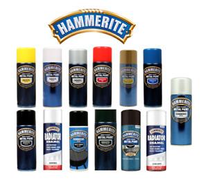 Hammerite Aerosol Quick Drying Metal/Radiator/BBQ Spray Paint 400ml