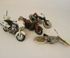 Vintage LOT Harley Davidson H-D Motorcycles By MAISTO Police WWII Race Bikes
