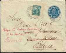 2674 Argentina To Belgium Ps Stationery Cover 1905 Readdressed To Italy