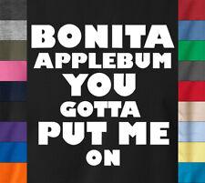A Tribe Called Quest BONITA APPLEBUM T-Shirt ATCQ Retro Hip Hop Rap Ringspun Tee