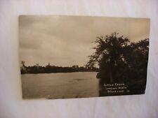 Real Photo Postcard RPPC Little Cedar Stacyville Iowa IA  1927 #2874