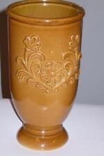 Beautiful Vintage pottery Tall Vase Signed: GH # 409 Fleur Flower