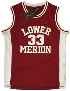 Kobe Bryant 33 Lower Merion High School Basketball Jersey Size M Maroon Stitched
