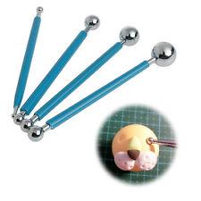 4x Professional Cake Flower Sugarcraft Ball Modelling Cutter Decorating Tools UK