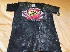 New Yoga Hindu Tshirt Om Lotus No Time Thailand Cotton Black Vintage SZ Large