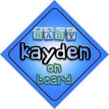 Baby Kayden On Board Novelty Child Car Sign Boy